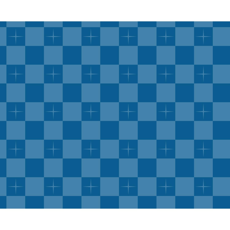 市松/ブルー